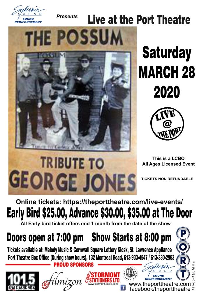 George Jones -2020 poster