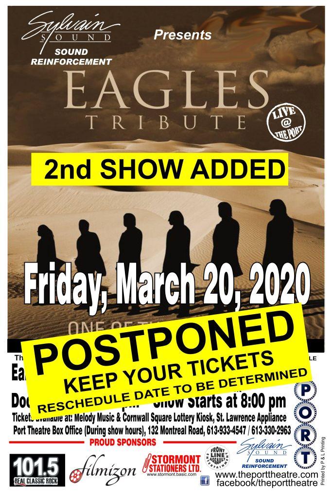 Eagles poster-20 2nd show POSTPONED