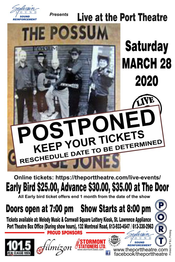 George Jones -2020 poster POSTPONED