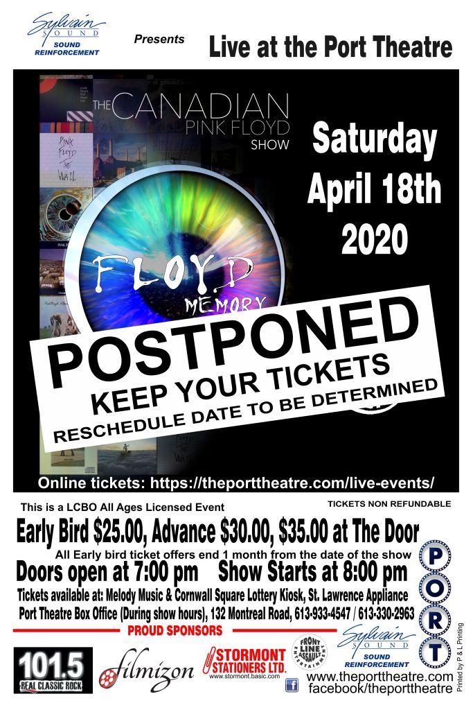 Floyd Memory 2020 poster POSTPONED