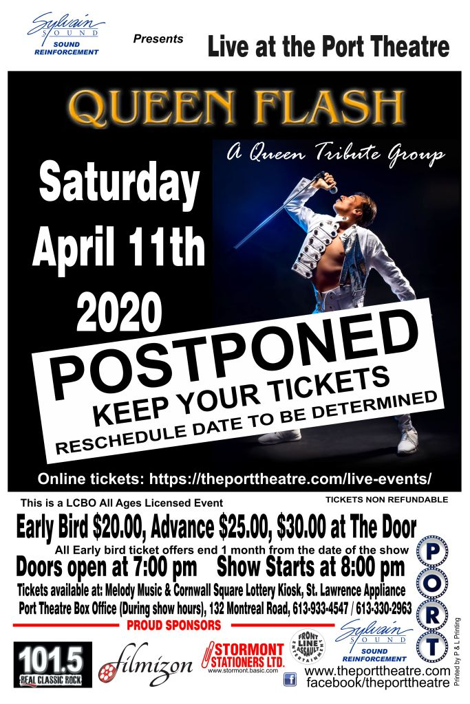 Queen Flash -2020 poster POSTPONED