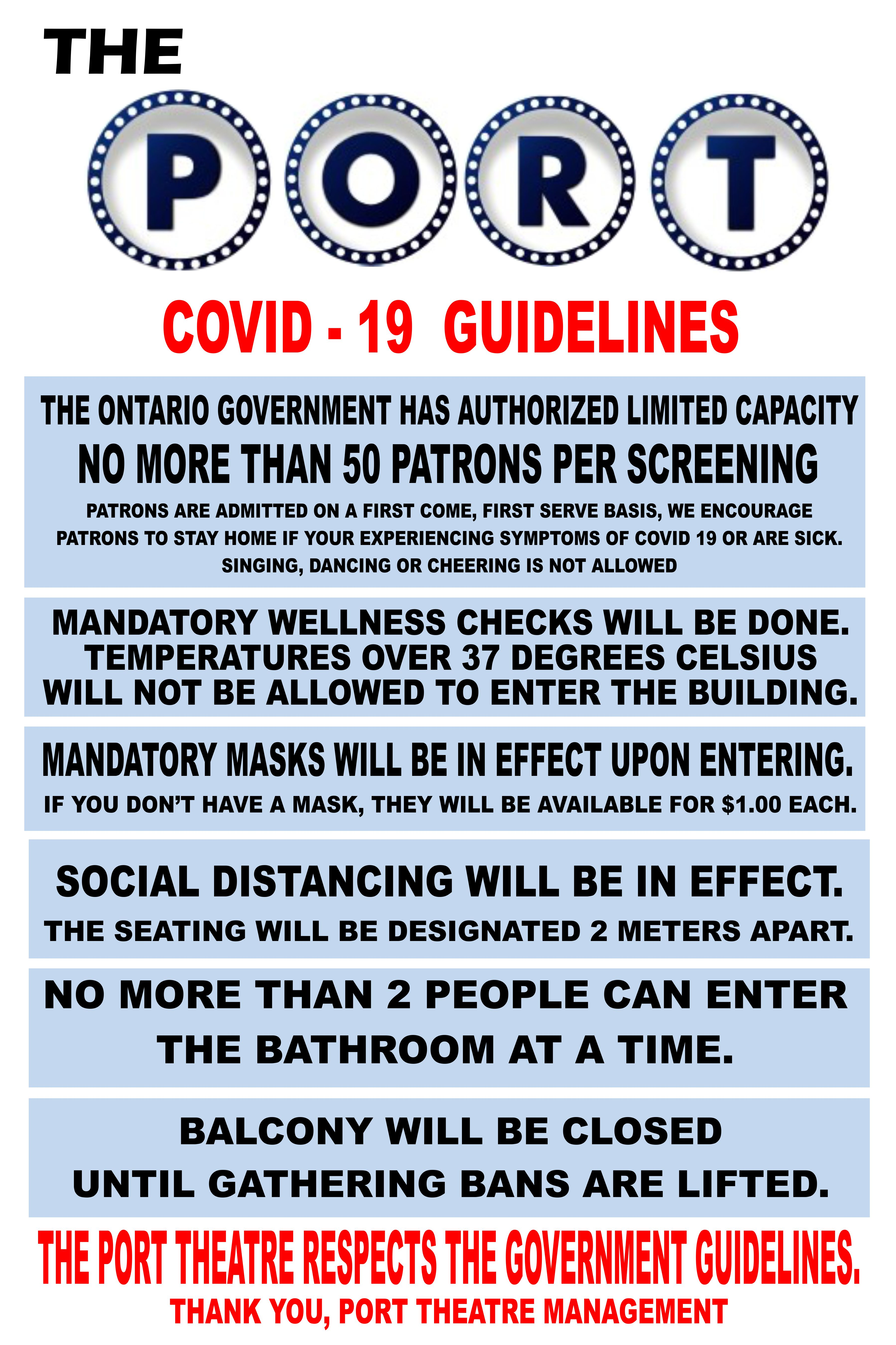 covid -19 guidelines update